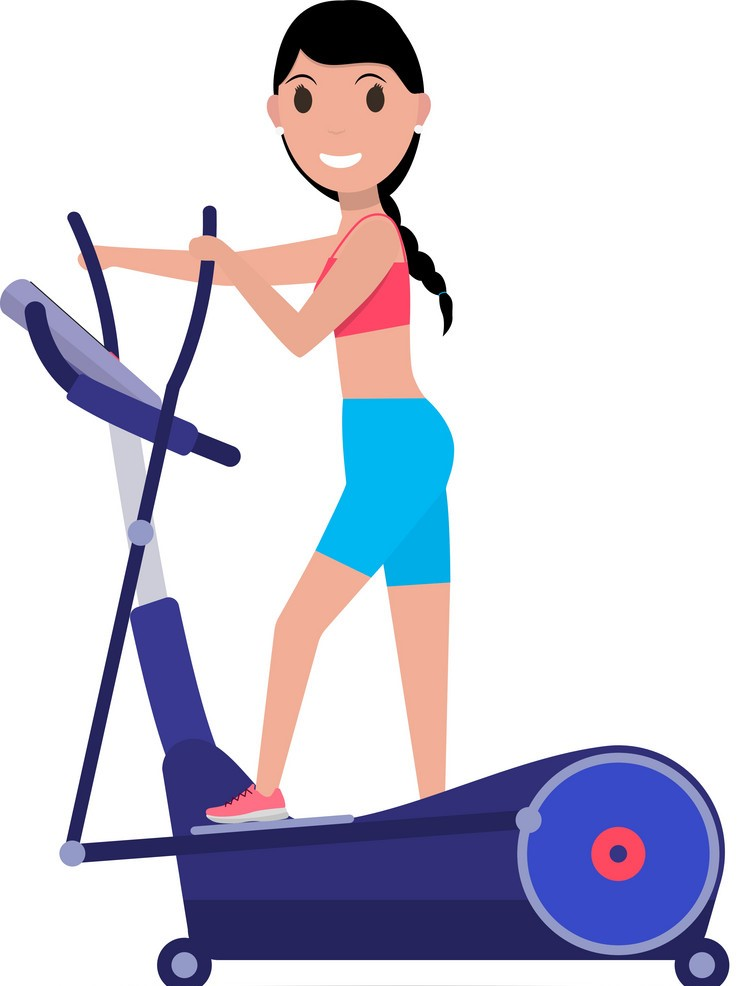 cartoon-girl-on-elliptical-cross-trainer-vector-12090079_2